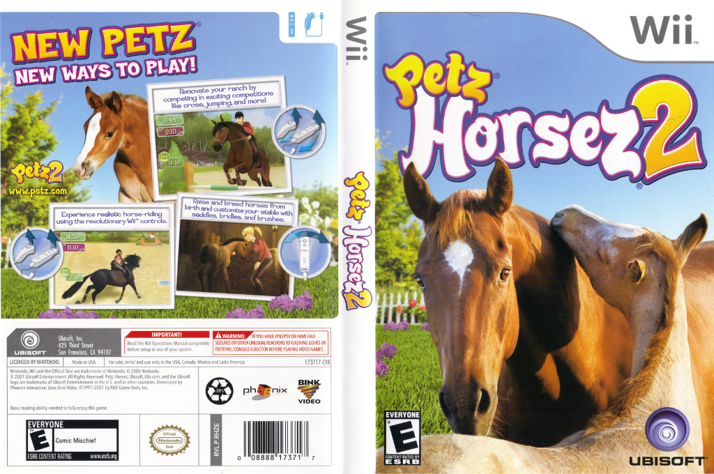 Petz Horsez 2 Wii coverfullHQ (RHZE41)