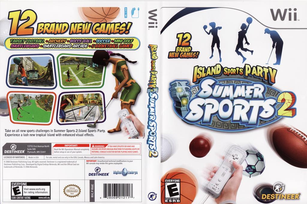 Summer Sports 2: Island Sports Party Wii coverfullHQ (RI6ENR)