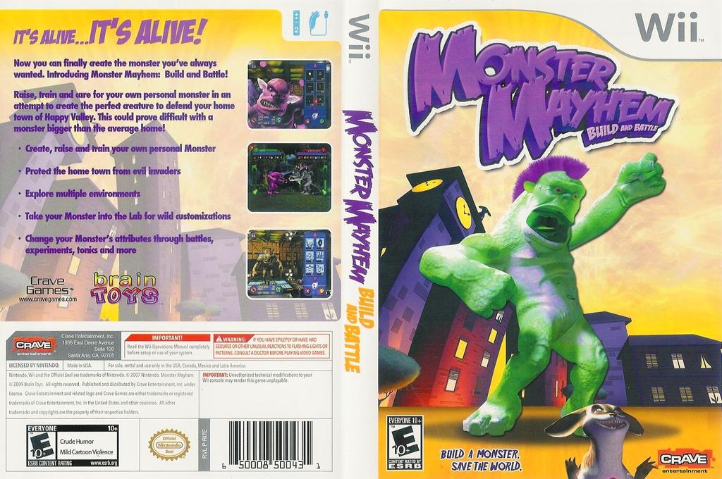 Monster Mayhem: Build and Battle Wii coverfullHQ (RI7E4Z)