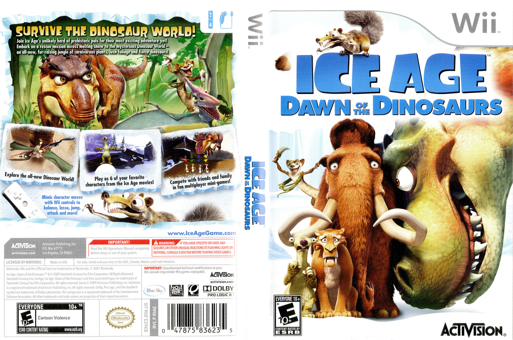 Ice Age: Dawn of the Dinosaurs Wii coverfullHQ (RIAE52)