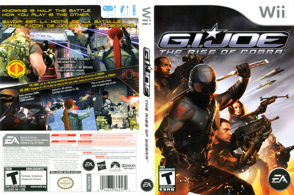 G.I. JOE: The Rise of Cobra Wii coverfullHQ (RIJE69)