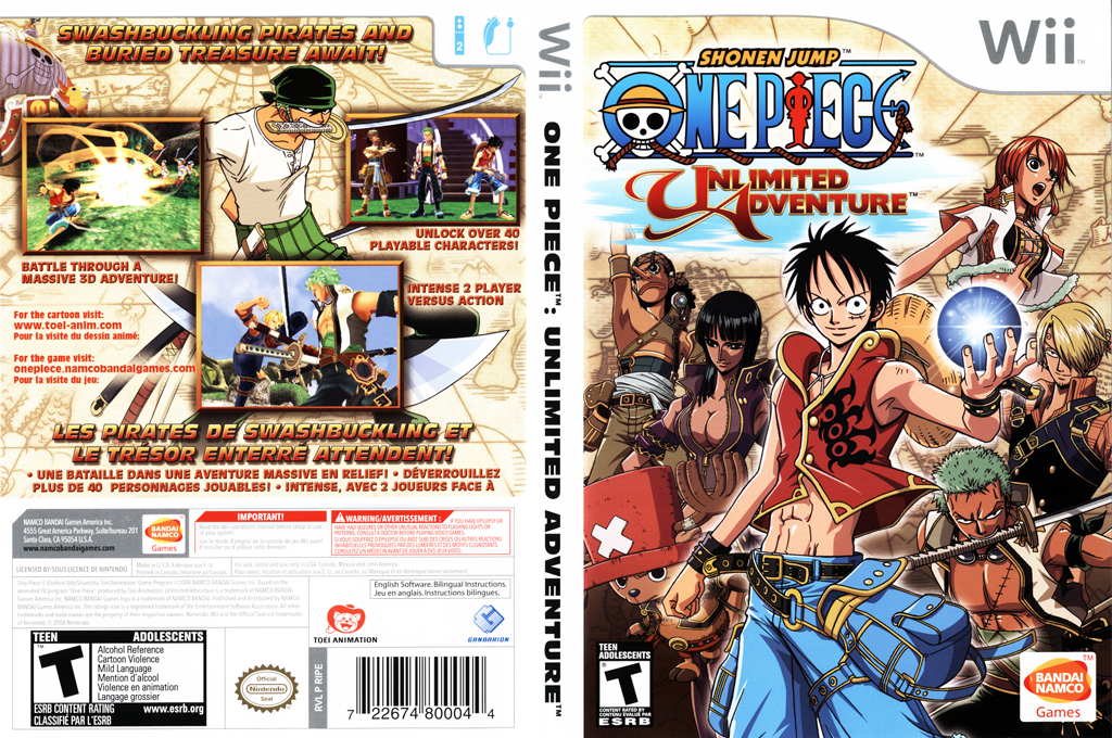 One Piece: Unlimited Adventure Wii coverfullHQ (RIPEAF)
