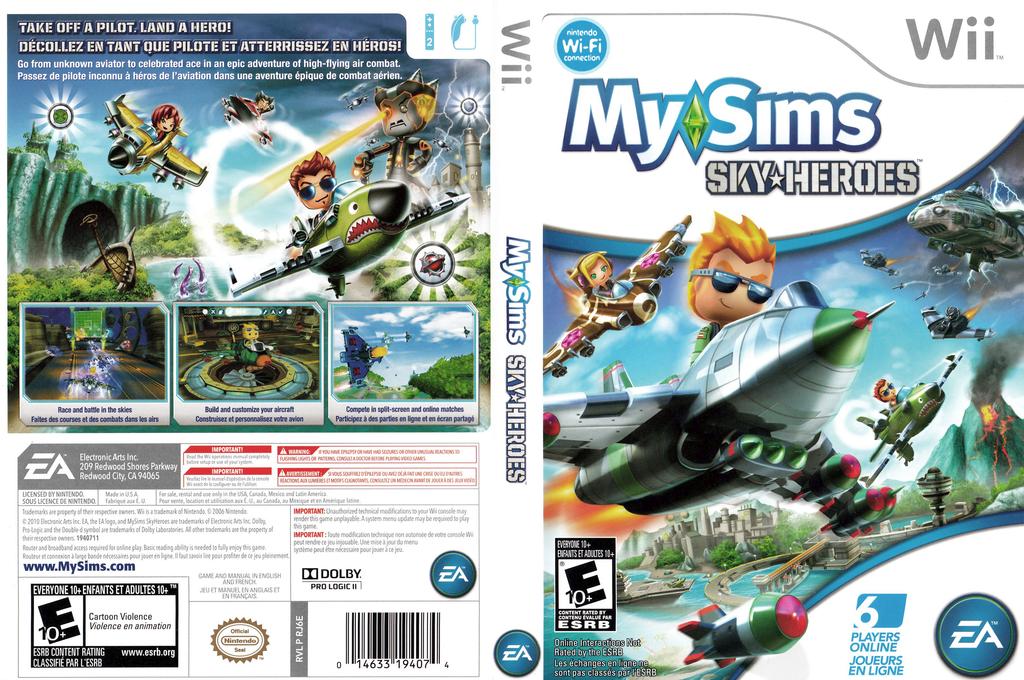 MySims Sky Heroes Wii coverfullHQ (RJ6E69)