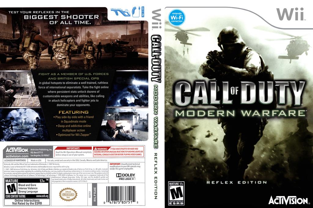 Call of Duty: Modern Warfare - Reflex Edition Wii coverfullHQ (RJAE52)