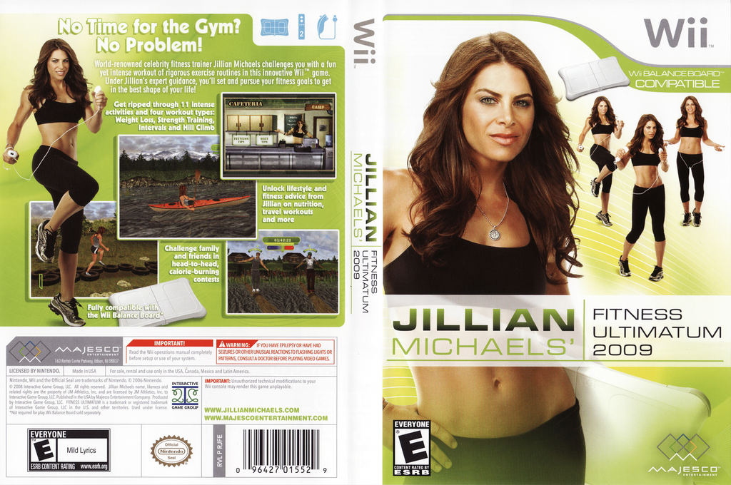 Jillian Michaels' Fitness Ultimatum 2009 Wii coverfullHQ (RJFE5G)