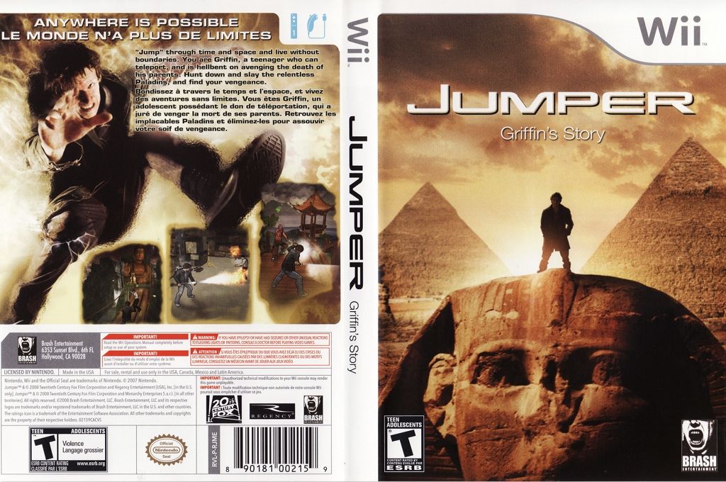 Jumper: Griffin's Story Wii coverfullHQ (RJMERS)