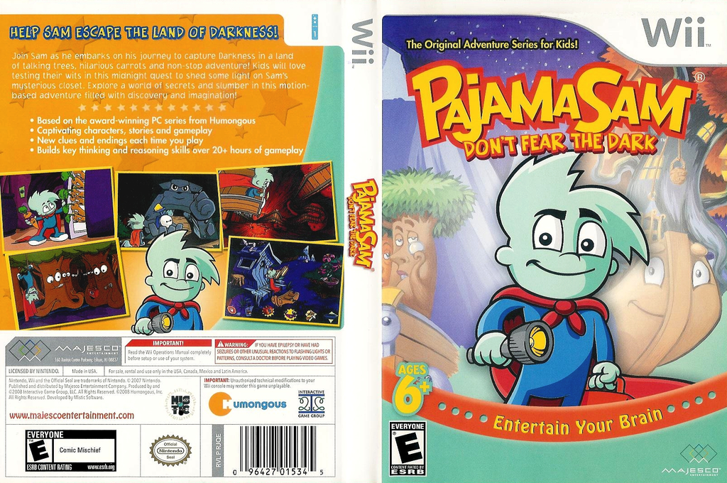 Pajama Sam: Don't Fear the Dark Wii coverfullHQ (RJQE5G)