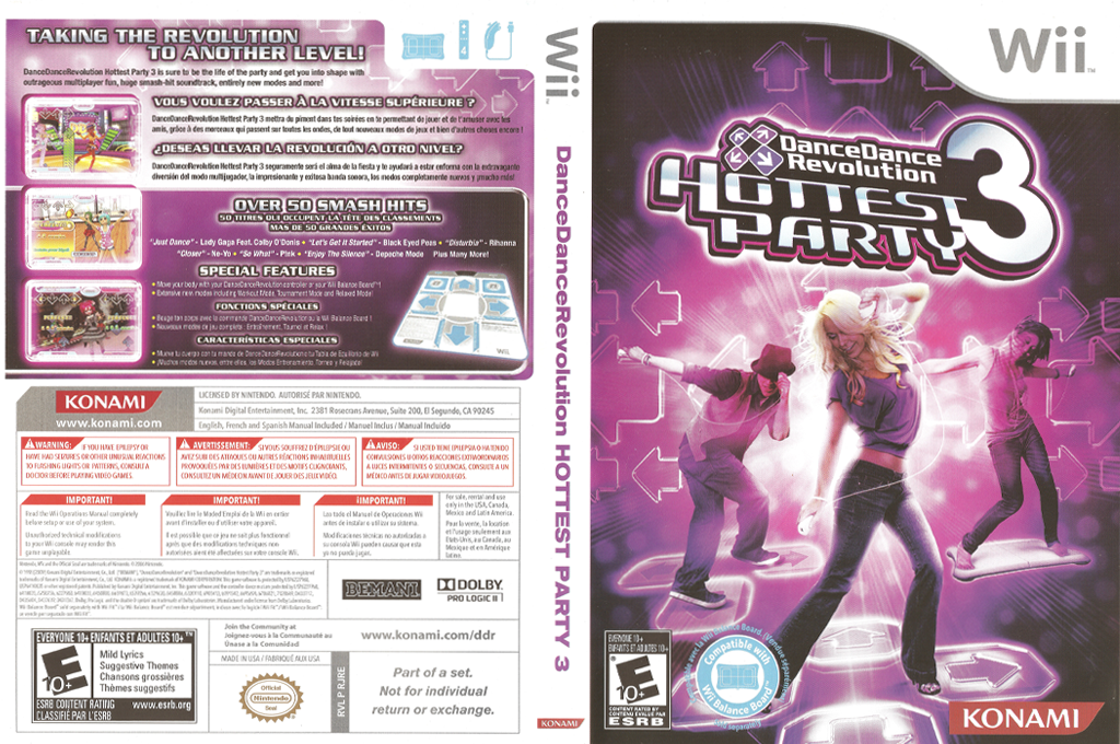 Dance Dance Revolution: Hottest Party 3 Wii coverfullHQ (RJREA4)