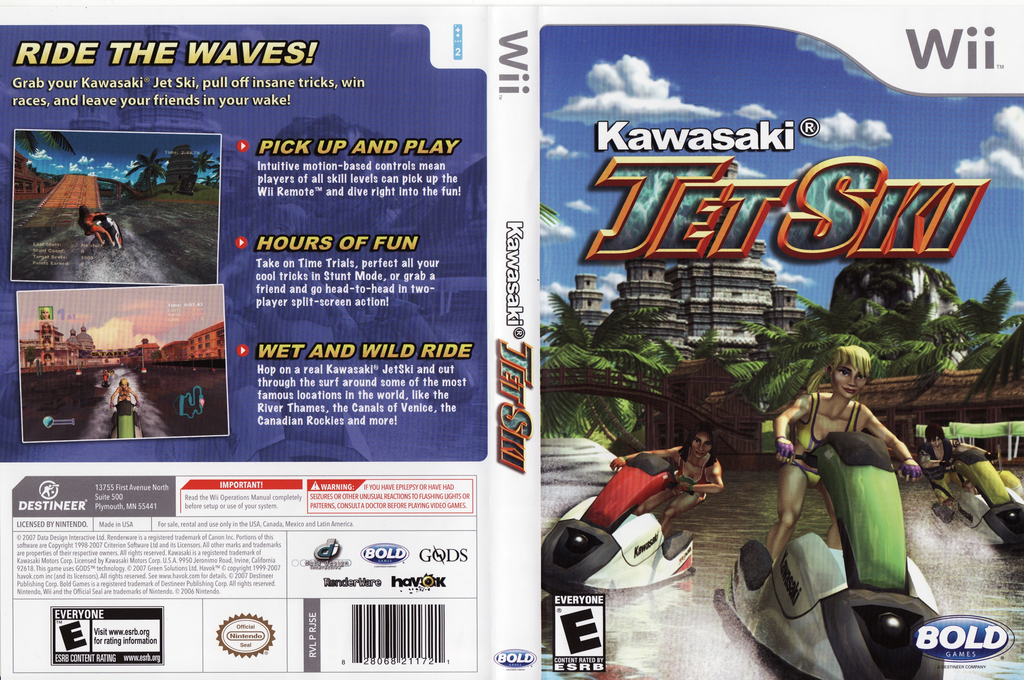 Kawasaki Jet Ski Wii coverfullHQ (RJSENR)
