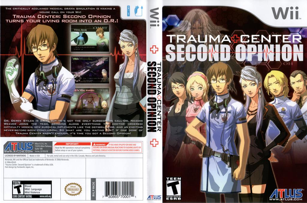 Trauma Center: Second Opinion Wii coverfullHQ (RKDEEB)