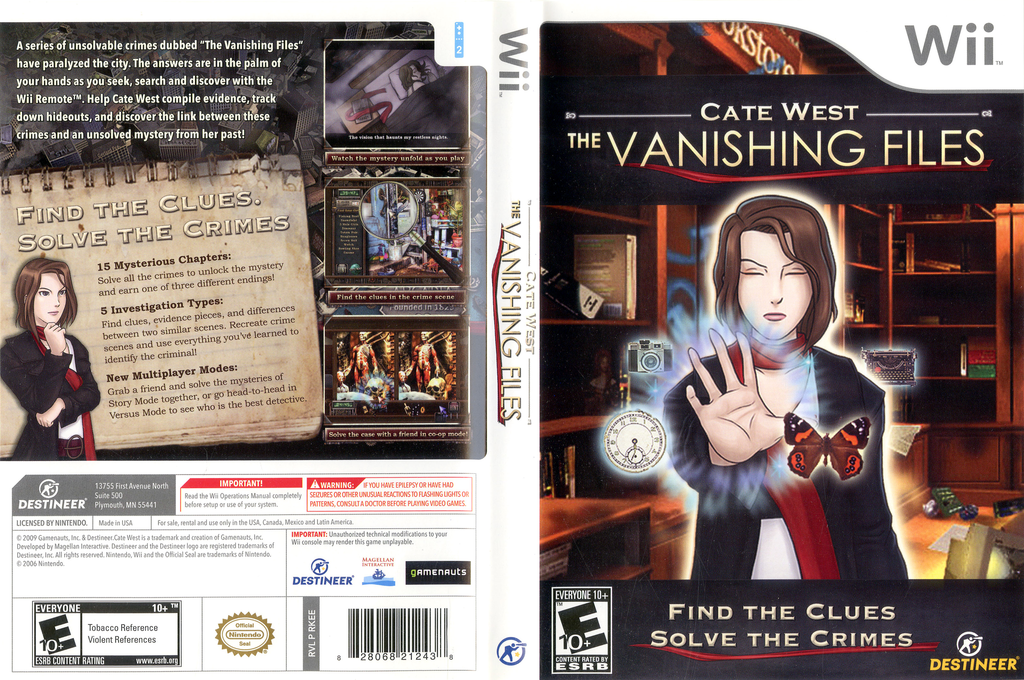 Cate West: The Vanishing Files Wii coverfullHQ (RKEENR)