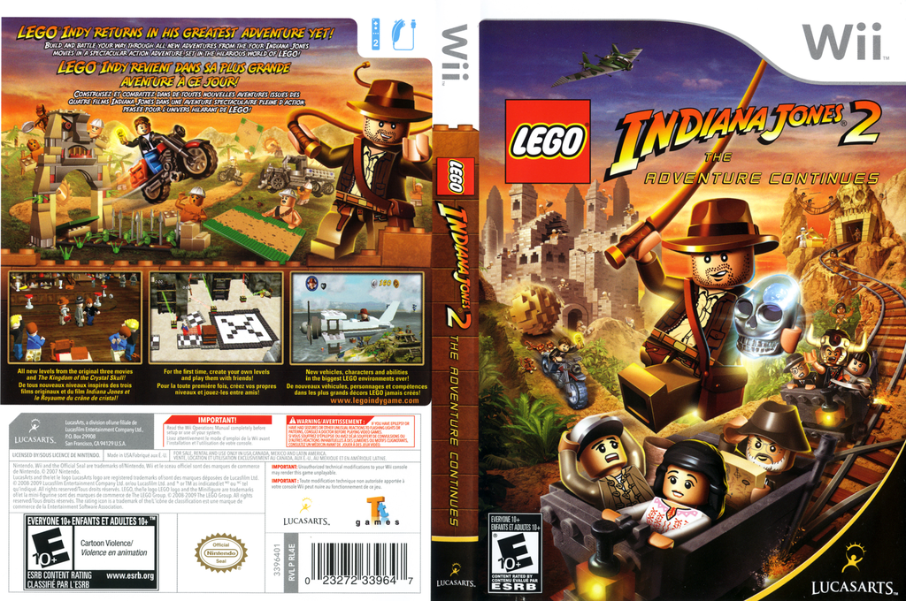 LEGO Indiana Jones 2: The Adventure Continues Wii coverfullHQ (RL4E64)