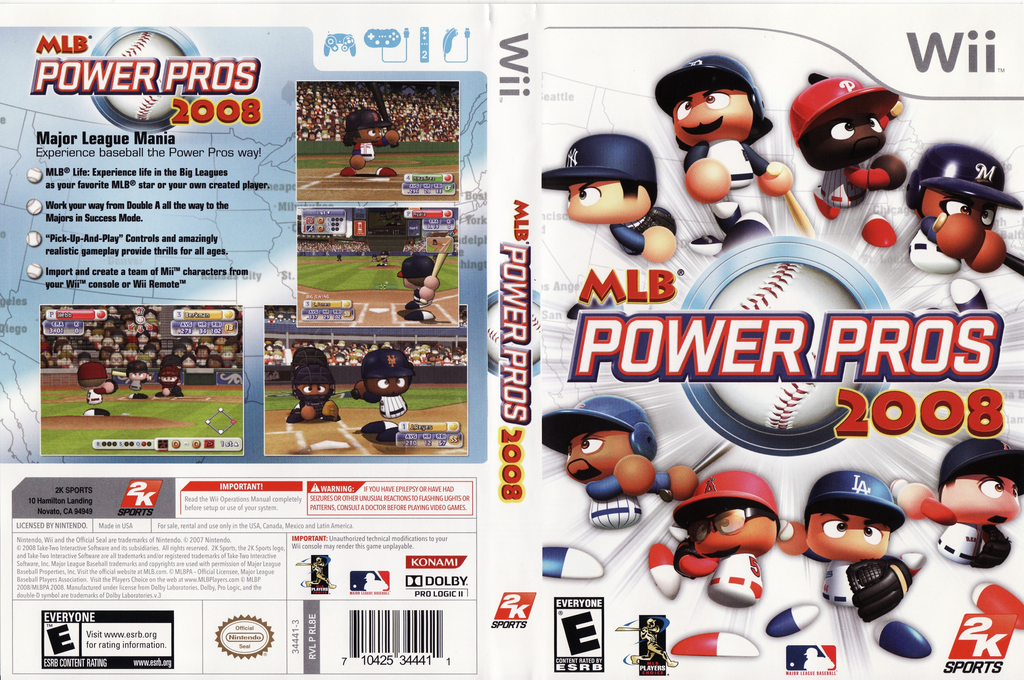 MLB Power Pros 2008 Wii coverfullHQ (RL8E54)