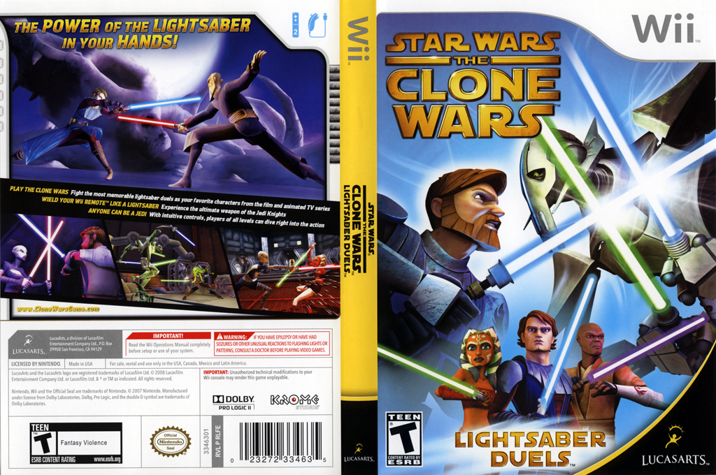 Star Wars The Clone Wars: Lightsaber Duels Wii coverfullHQ (RLFE64)