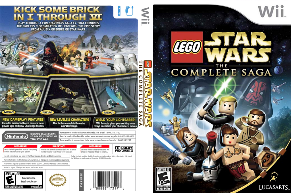 LEGO Star Wars: The Complete Saga Wii coverfullHQ (RLGE64)