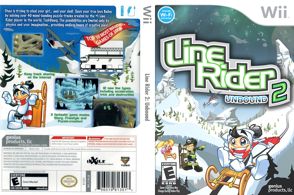 Line Rider 2: Unbound Wii coverfullHQ (RLJEHJ)