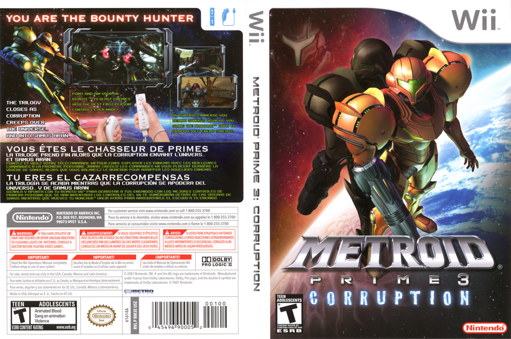 Metroid Prime 3: Corruption Wii coverfullHQ (RM3E01)