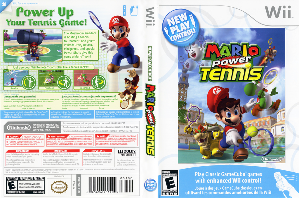 Mario Power Tennis Wii coverfullHQ (RMAE01)