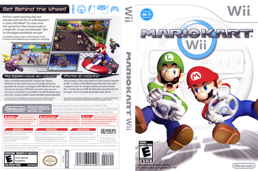 Mario Kart Wii Wii coverfullHQ (RMCE01)