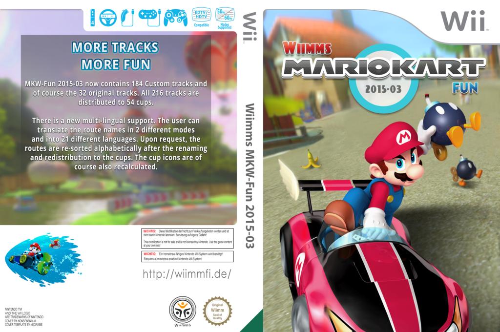 Wiimms MKW-Fun 2015-03.ntsc Wii coverfullHQ (RMCE27)