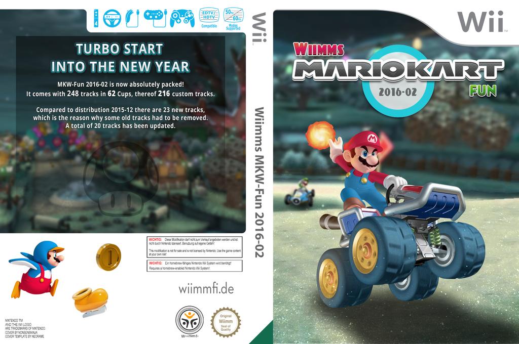 Wiimms MKW-Fun 2016-02.ntsc Wii coverfullHQ (RMCE31)