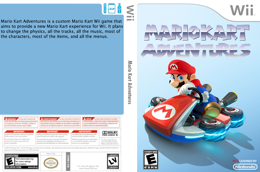 Mario Kart Adventures Wii coverfullHQ (RMCE74)