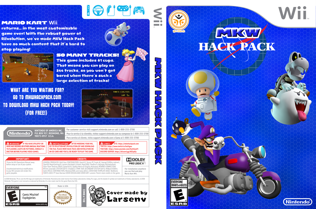 MKW Hack Pack Wii coverfullHQ (RMCE93)