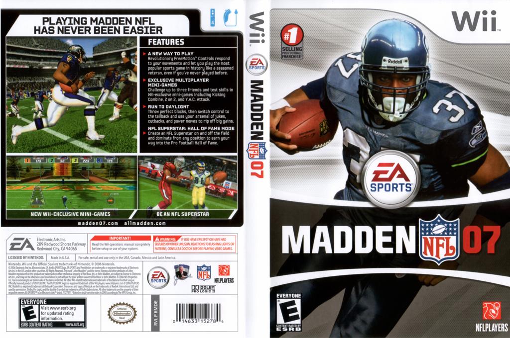 Madden NFL 07 Array coverfullHQ (RMDE69)