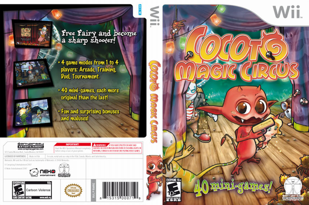 Cocoto Magic Circus Wii coverfullHQ (RMRE5Z)