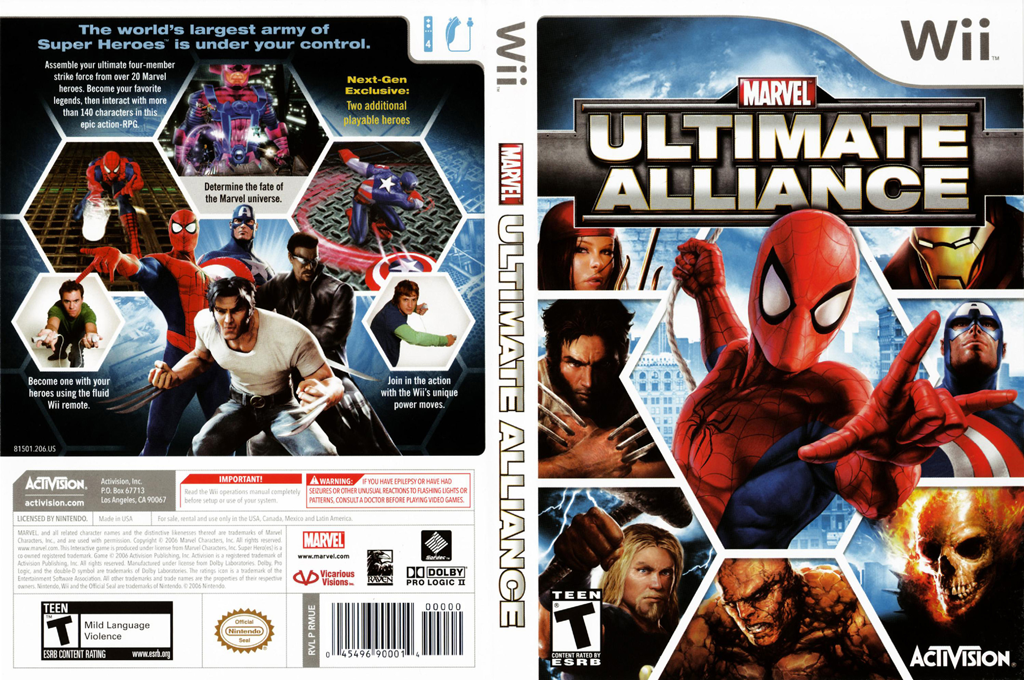 Marvel: Ultimate Alliance Wii coverfullHQ (RMUE52)