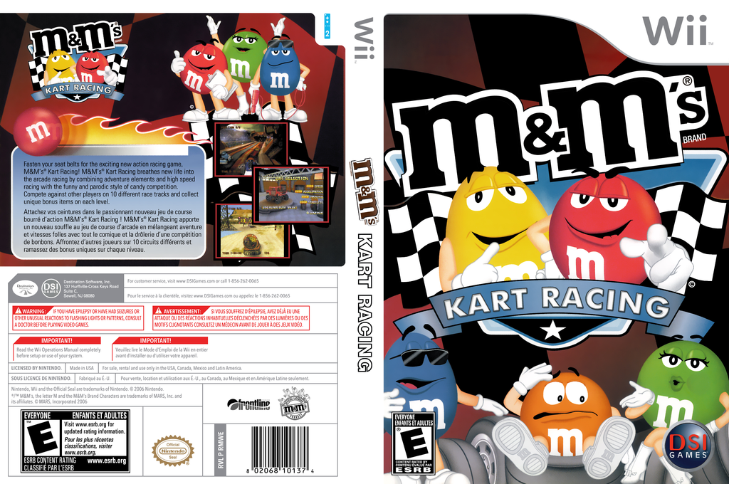 M&M's Kart Racing Wii coverfullHQ (RMWE20)