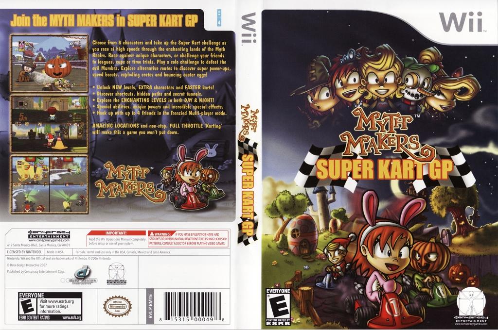 Myth Makers: Super Kart GP Wii coverfullHQ (RMYE5Z)