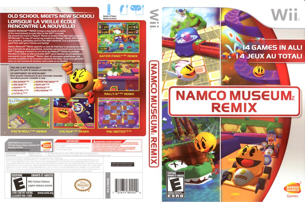 Namco Museum Remix Wii coverfullHQ (RN2EAF)