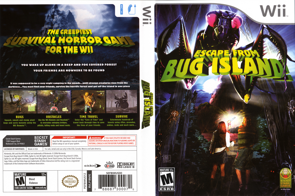 Escape from Bug Island Wii coverfullHQ (RN9E4F)