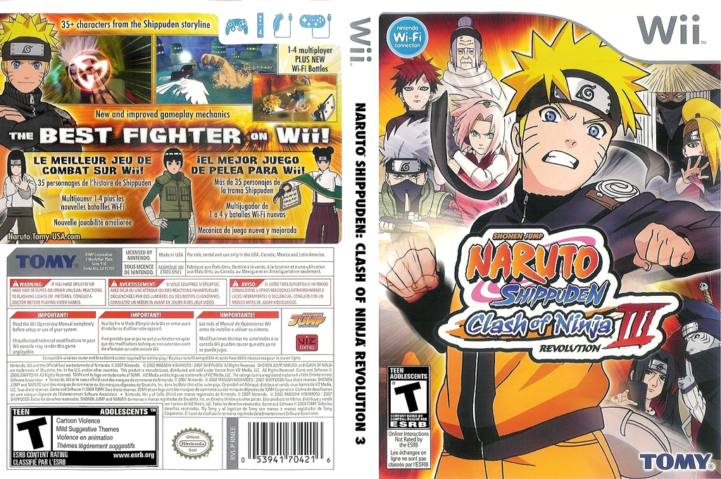 Naruto Shippuden: Clash of Ninja Revolution 3 Array coverfullHQ (RNEEDA)