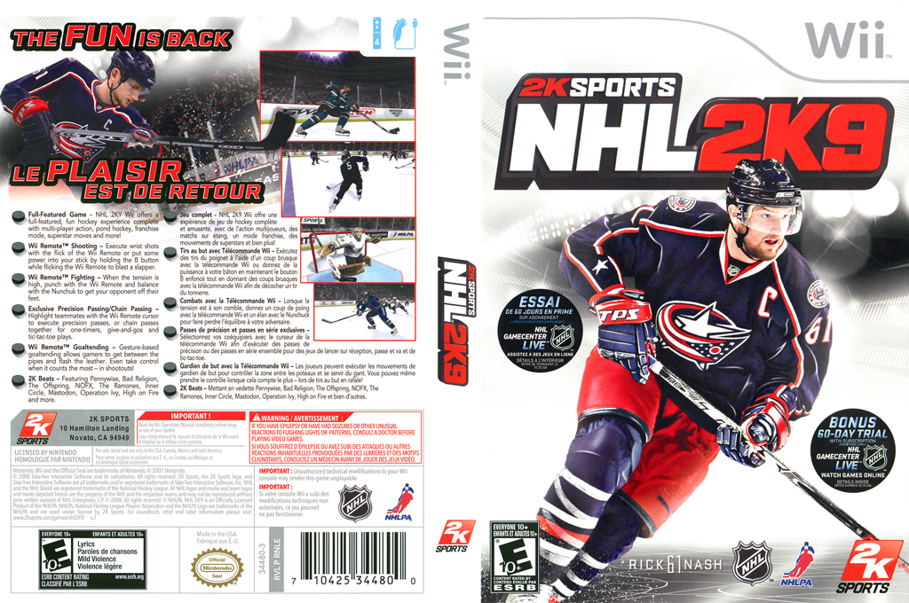 NHL 2K9 Wii coverfullHQ (RNLE54)