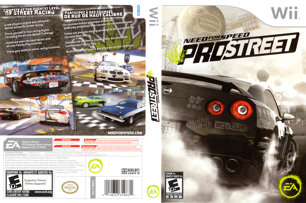 Need for Speed: ProStreet Wii coverfullHQ (RNPE69)