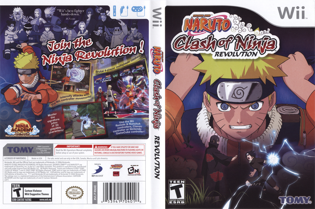 Naruto: Clash of Ninja Revolution Wii coverfullHQ (RNXEDA)