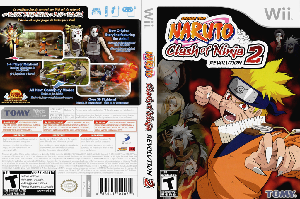 Naruto: Clash of Ninja Revolution 2 Wii coverfullHQ (RNYEDA)