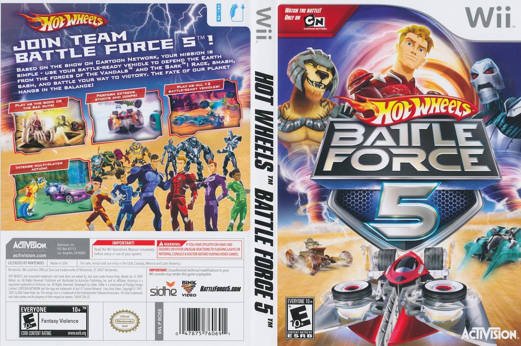 Hot Wheels: Battle Force 5 Wii coverfullHQ (RO5E52)