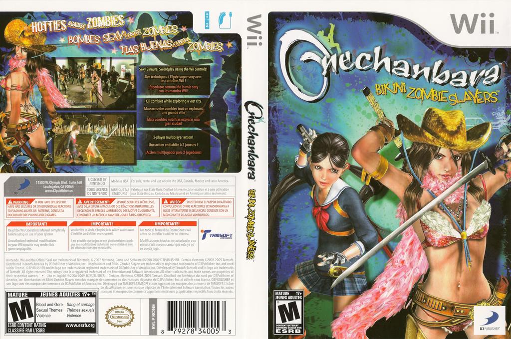 Onechanbara: Bikini Zombie Slayers Wii coverfullHQ (RONEG9)