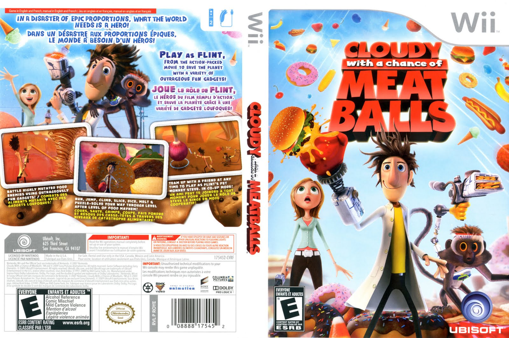 Cloudy with a Chance of Meatballs Wii coverfullHQ (ROYE41)
