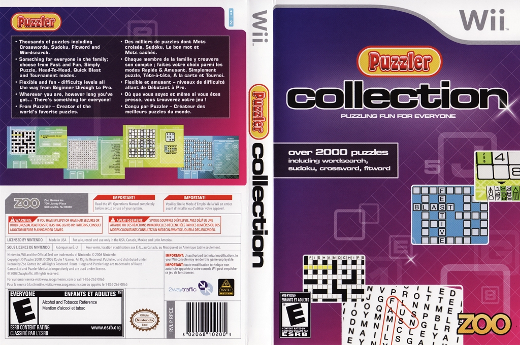 Puzzler Collection Wii coverfullHQ (RPCE20)