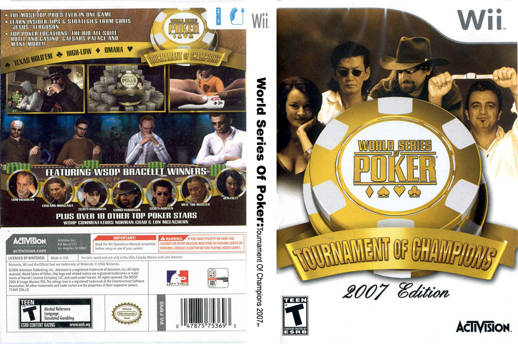 World Series of Poker: Tournament of Champions 2007 Edition Wii coverfullHQ (RPKE52)