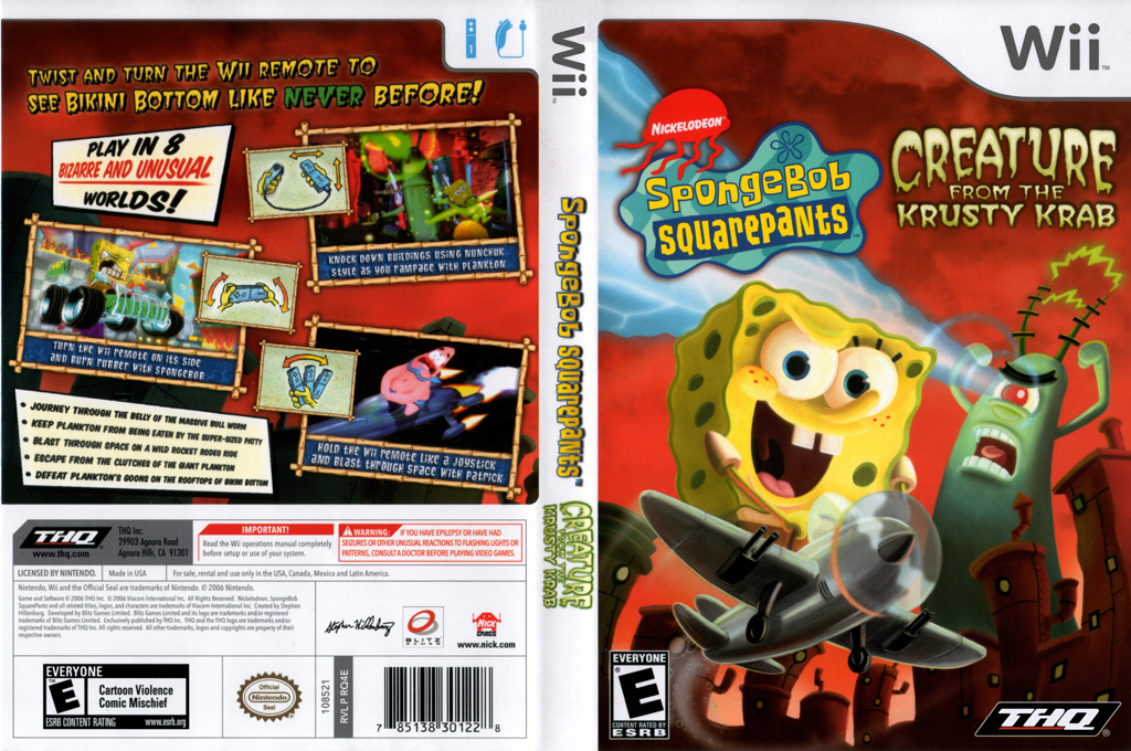 SpongeBob SquarePants: Creature from the Krusty Krab Wii coverfullHQ (RQ4E78)
