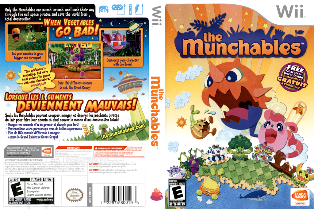 The Munchables Wii coverfullHQ (RQCEAF)