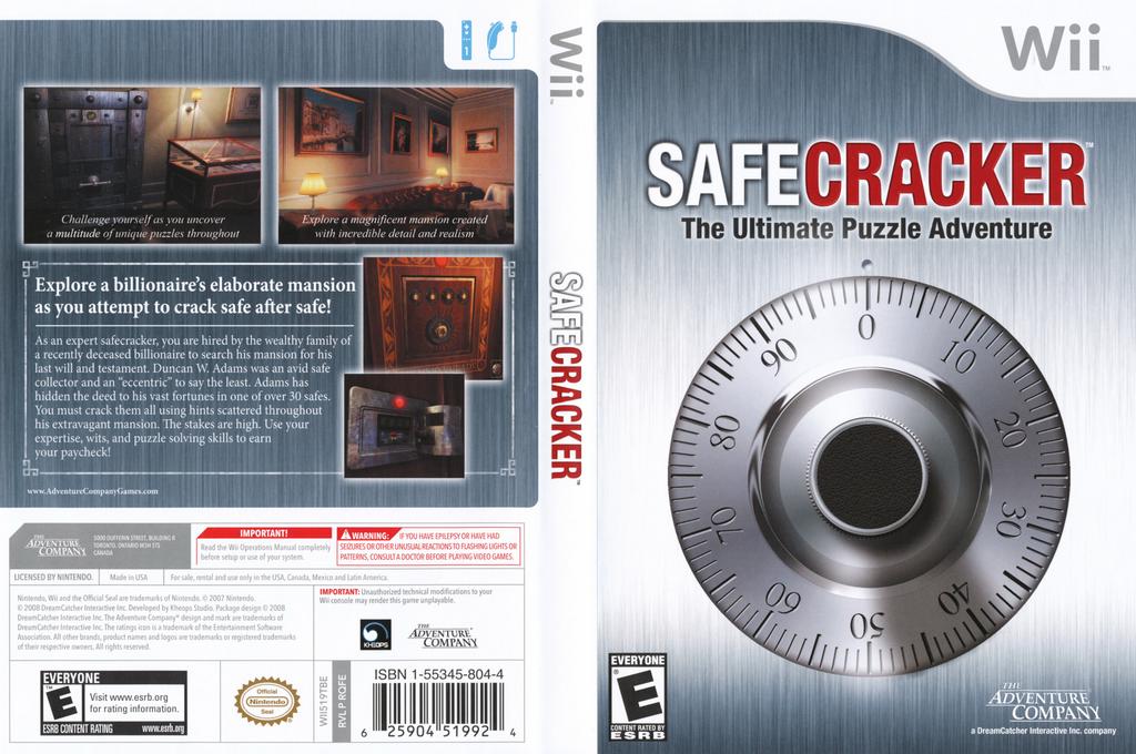 Safecracker: The Ultimate Puzzle Adventure Wii coverfullHQ (RQFE6U)