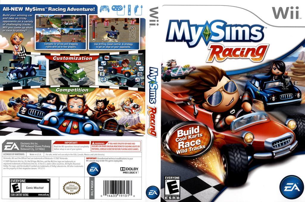MySims Racing Wii coverfullHQ (RQGE69)