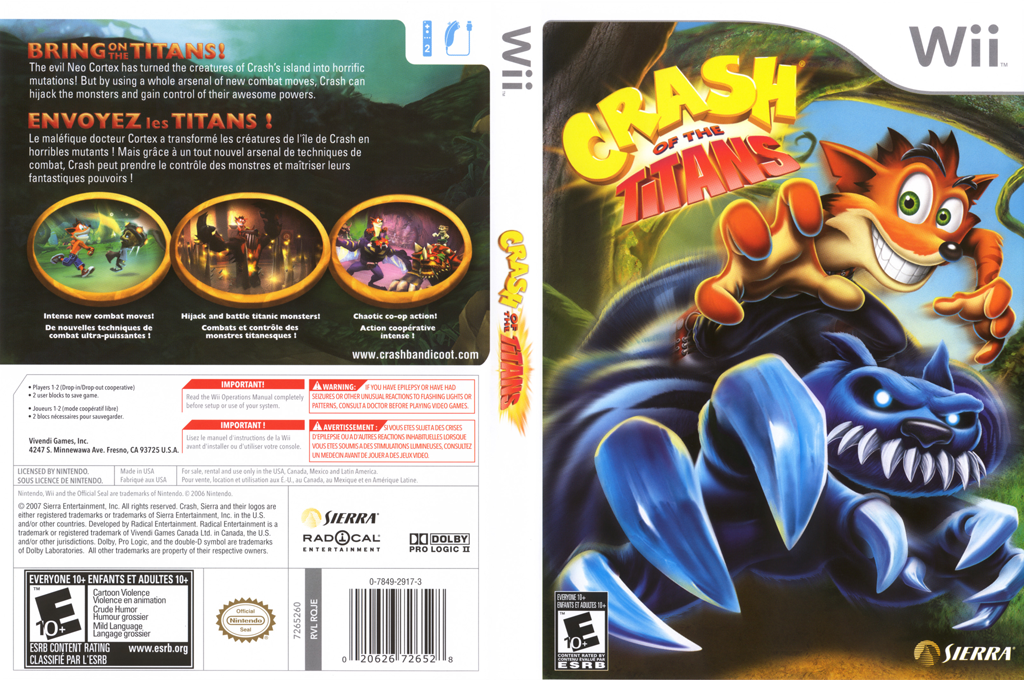Crash of the Titans Wii coverfullHQ (RQJE7D)