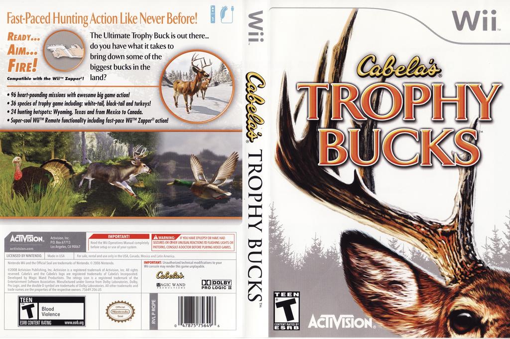 Cabela's Trophy Bucks Wii coverfullHQ (RQPE52)